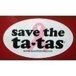 SAVE THE TATAS OVAL STICKER Thumbnail