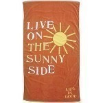 LIFE IS GOOD LIVE ON SUNNY SIDE BEACH TOWEL Thumbnail