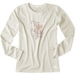 LIFE IS GOOD WOOF SCRIPT LONG SLEEVE T-SHIRT Thumbnail