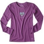 LIFE IS GOOD WILD AT HEART LONG SLEEVE TEE Thumbnail