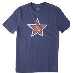 LIFE IS GOOD LOOSE STAR TEE Thumbnail