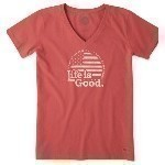 LIFE IS GOOD LAND OF THE FREE TEE Thumbnail