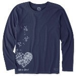 LIFE IS GOOD FLOATING HEARTS LS TEE Thumbnail