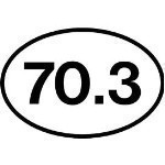 70.3 OVAL STICKER Thumbnail
