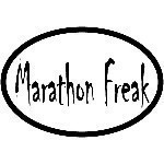 MARATHON FREAK OVAL STICKER Thumbnail