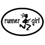 RUNNER GIRL OVAL STICKER Thumbnail