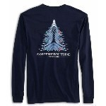 SOUTHERN TIDE HOLIDAY WAVES LS TREE TEE Thumbnail